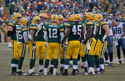 Green Bay Packers huddle | by Mike Morbeck