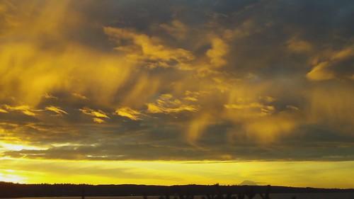 seattle clouds sunrise canal washington hood hansville