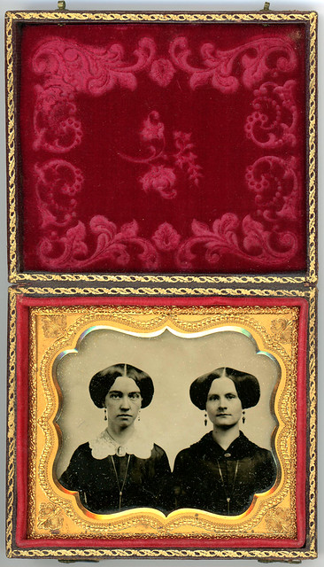 Ambrotype of Two Sisters