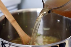 pouring broth | by Cascadian Farm