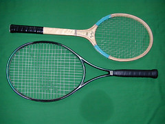 Wood and CFRP tennis rackets | by CORE-Materials