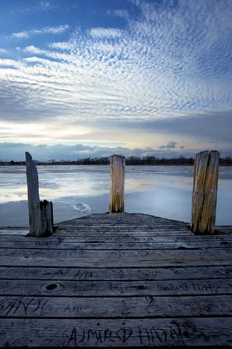 bridge sunset nebraska cloudy lincoln oaklake