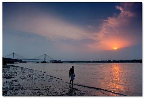 sunset sky colors clouds landscape dusk wide kolkata westbengal gradnd vidyasagarsetu pentaxk200d pentax1855mmii