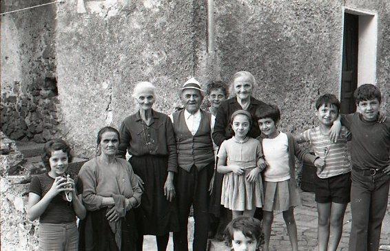 Family Group - Sanza, Italy 1974