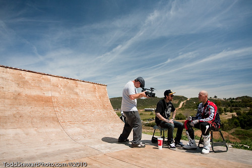 Mike Metzger getting interviewed by Beau Manley