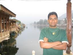 Me outside boathouse