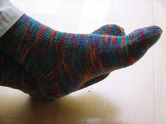 Los calcetines en paralelo acabados!
