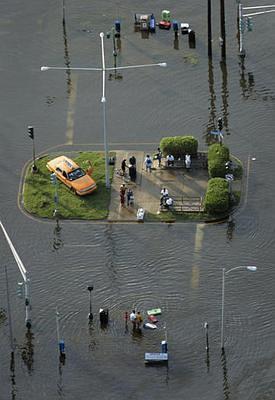 foto del desastre de Katrina