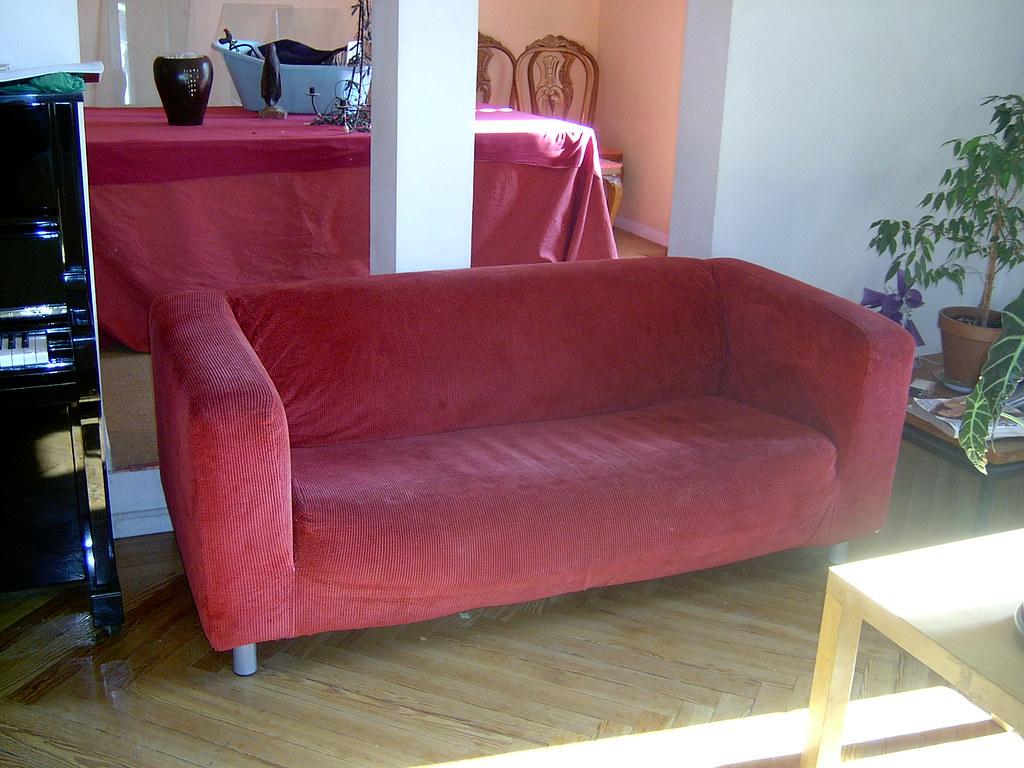 Sofa Ikea Klippan Red Coverfunda Roja Arrieta2 Flickr