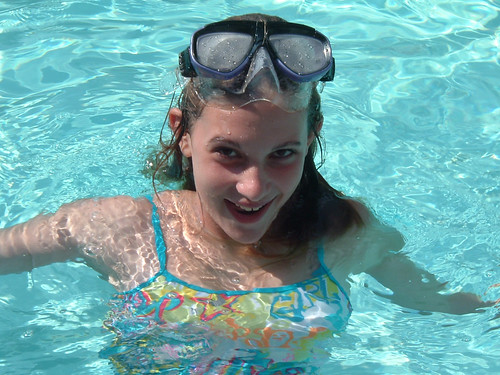 Beth in the pool   by bcmom