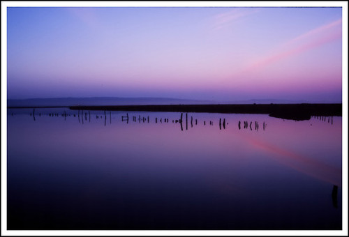 pink blue sky reflection clouds sunrise fuji velvia bayarea eastbay backwaters deepblue fujivelvia marshlands bsbblue vividelangs elangs