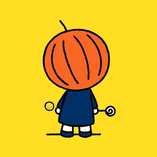 sketches_pumpkin san_パンプキンさん | by mitchikeuchi