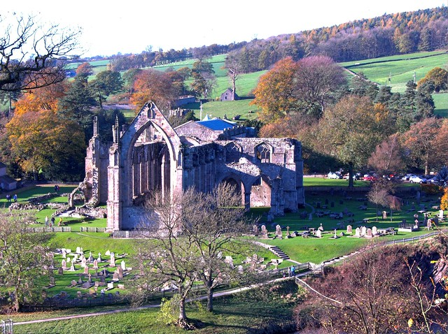 Bolton Abbey from up the Mountain