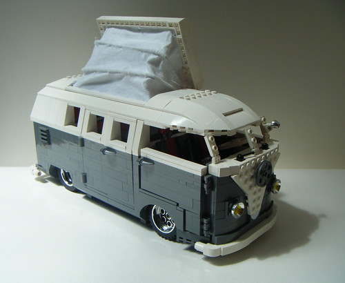 lego vw split screen barn door camper conversion