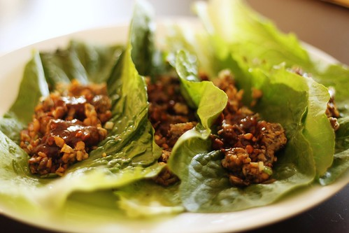 vegetarian tempeh lettuce wraps | by Stacy Spensley