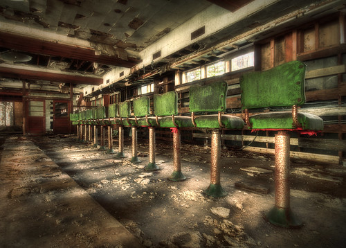 new york old walter ny green dusty abandoned coffee shop bar photography belt high dynamic decay arnold sigma dirty resort abandon catskills stool stools coffe borscht range 1020 hdr decayed decaying hdri grossingers borschtbelt grossinger theborschtbelt sigma50th