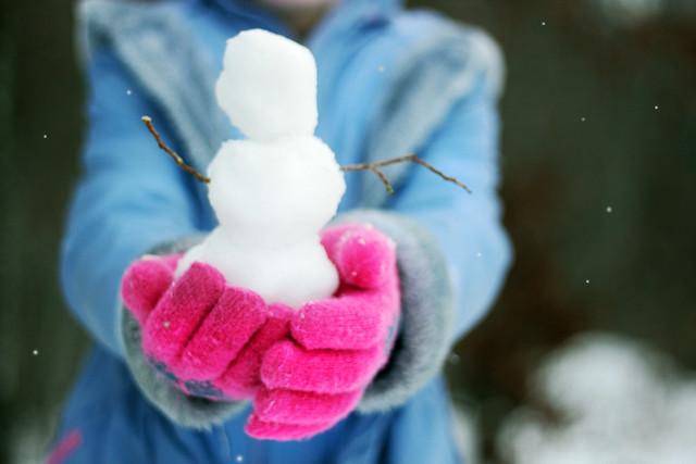 Snowmen fall from heaven unassembled.