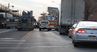 20100115 - Accident in Newark... Semi and a lot of ambulances | by bpende