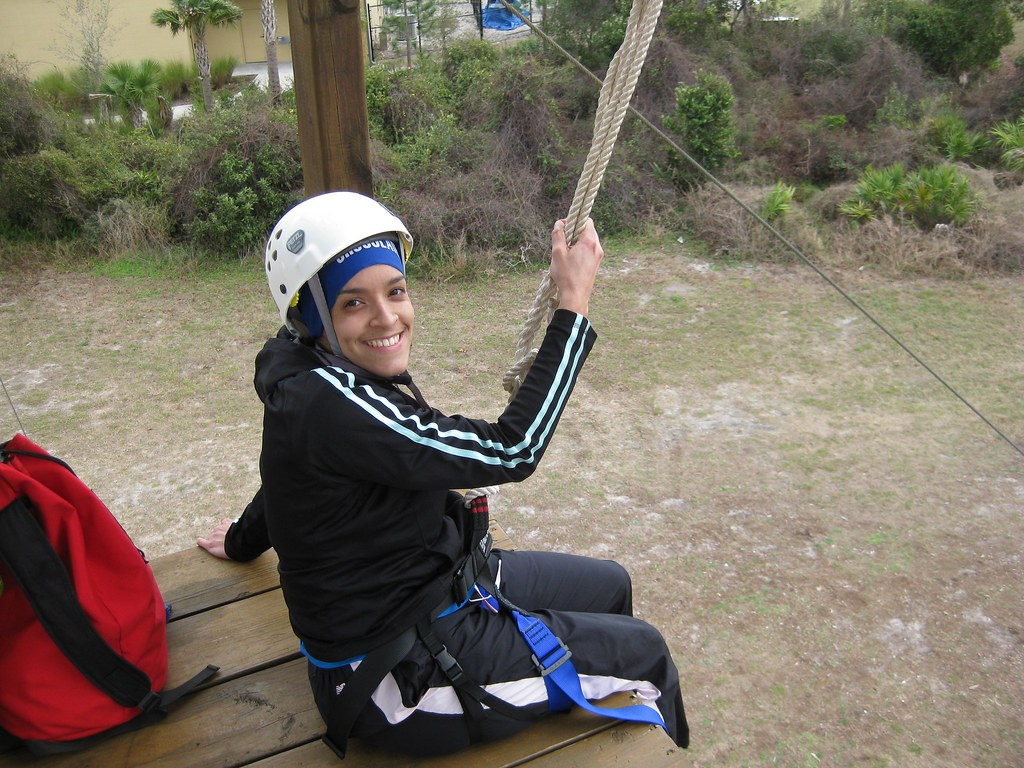 Kitzzy About To Zip Line At End Of Ropes Course Ucf