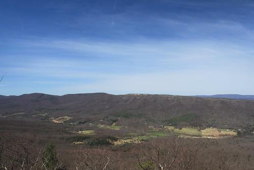 sky clouds virginia spring view hike westvirginia overlook millmountain georgewashingtonnationalforest troutrunvalley