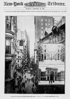 "A glimpse of New-York's great canyon, called Nassau-St., which it is proposed to ""arcade"" (LOC)"