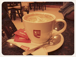 Coffee. At the Mariplex Cafe Coffee Day. Almost empty for a rainy Friday evening. | by sankarshan