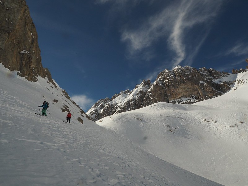 Moutouze - In the right conditions, this classic tour often gives a perfect transition from powder to spring snow