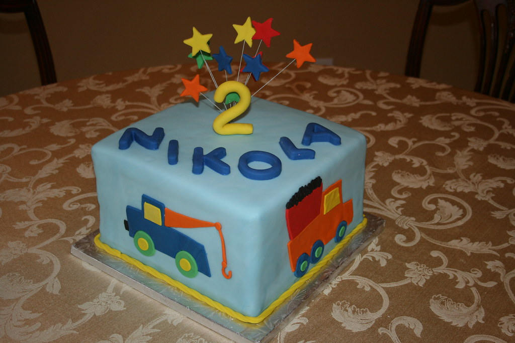 Phenomenal Truck Birthday Cake This Cake Was Made For A Little Boy Wh Flickr Funny Birthday Cards Online Fluifree Goldxyz
