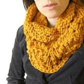 amber orange cowl wordpress pattern link | by Heidi Miller Hirtle