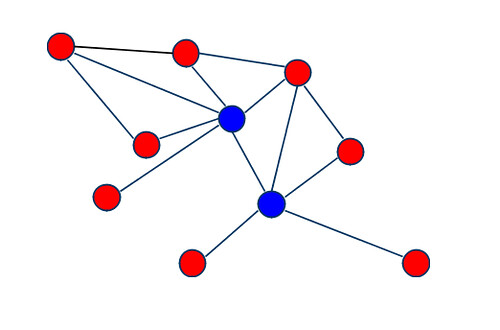 Social network diagram - spokes