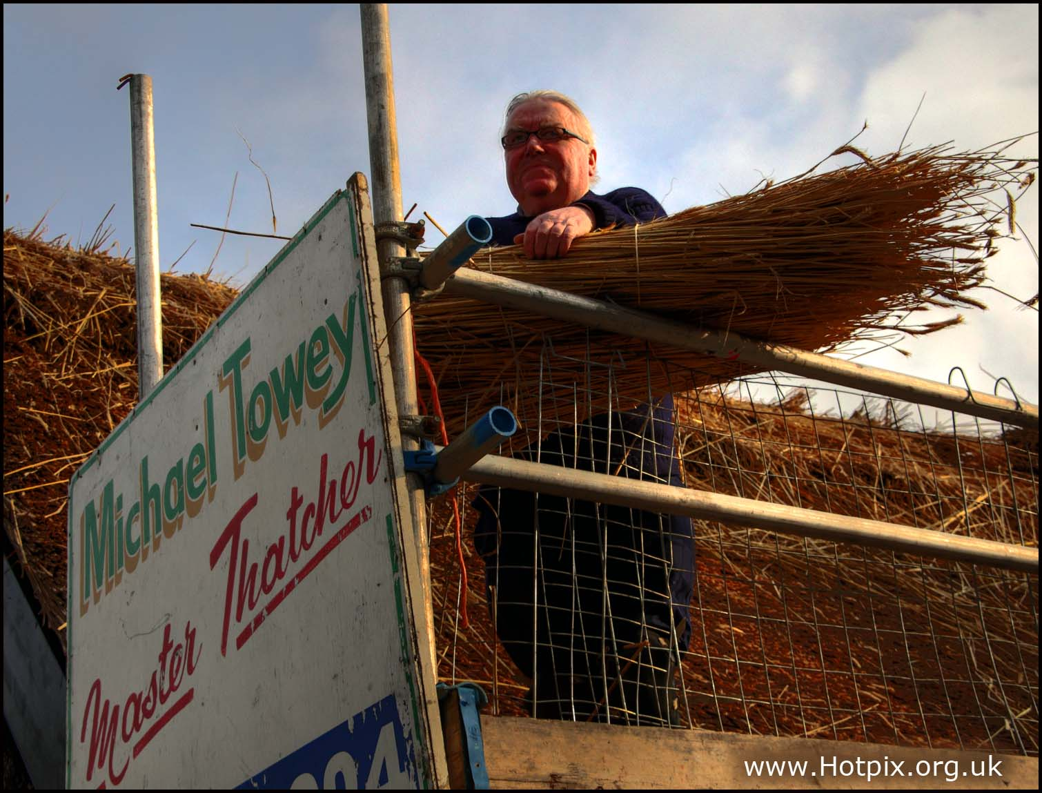 Mike,Michael,Towey,master,thatcher,thatch,thatched,cottage,house,rural,agricultural,chester,cheshire,plumley,A556,Knutsford,Northwich,England,English,UK,Britain,GB,man,male,portrait,sunny,winter,January,jan,this photo rocks,HDR,high dynamic range,Chehire,hotpics,hotpic,hotpick,hotpicks,building,buildings,built,architecture,hotpix!,@hotpixuk