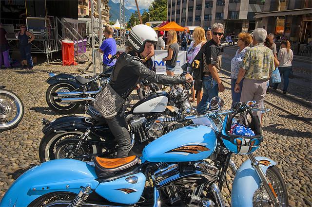 Harley Davidson Parade in Locarno. August 25, 2013.No.8522
