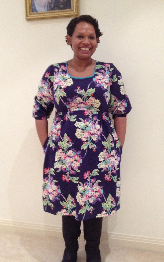 Washi Dress Size Xxl With Long Sleeves In Amy Butler Love