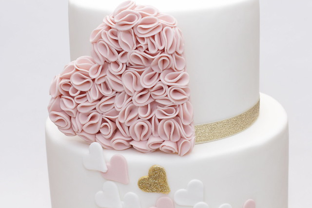 ruffle heart wedding