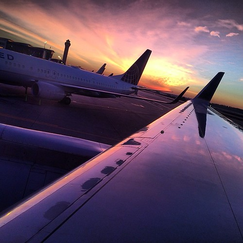 instagramapp square squareformat iphoneography mabrycampbell unitedstates 2014 january airplane wing sunrise transportation image photo photograph photogaphy houston texas usa us airport iphone fav10 fav20 fav30 fav40 fav50 fav60 fav70 fav80 fav90 fav100 fav200 fav300