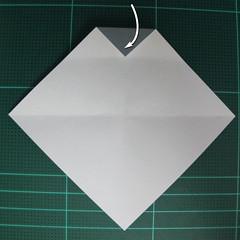 วิธีพับกระดาษเป็นรูปลูกสุนัข (แบบใช้กระดาษสองแผ่น) (Origami Dog) 010