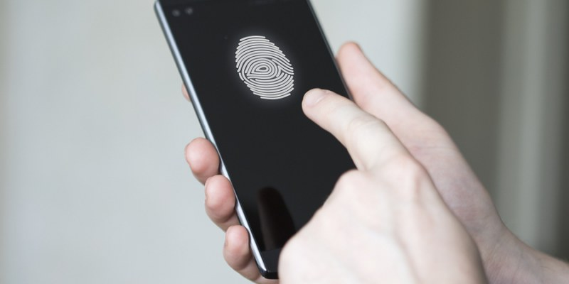 smartphone with fingerprint scanner
