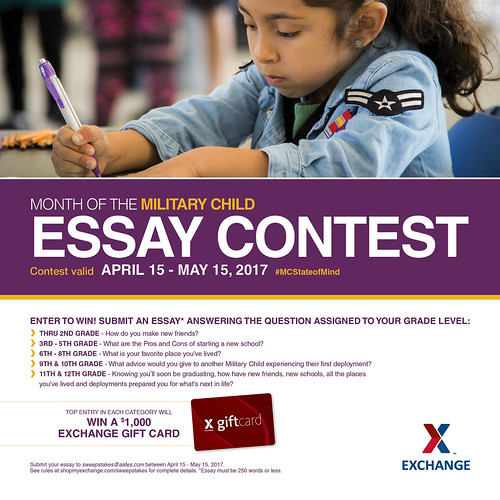 Exchange Month of the Military Child Essay Contest | by Army & Air Force Exchange Service PAO