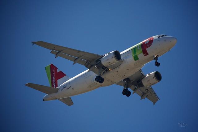 TAP Air Portugal landing at Lisbon Airport