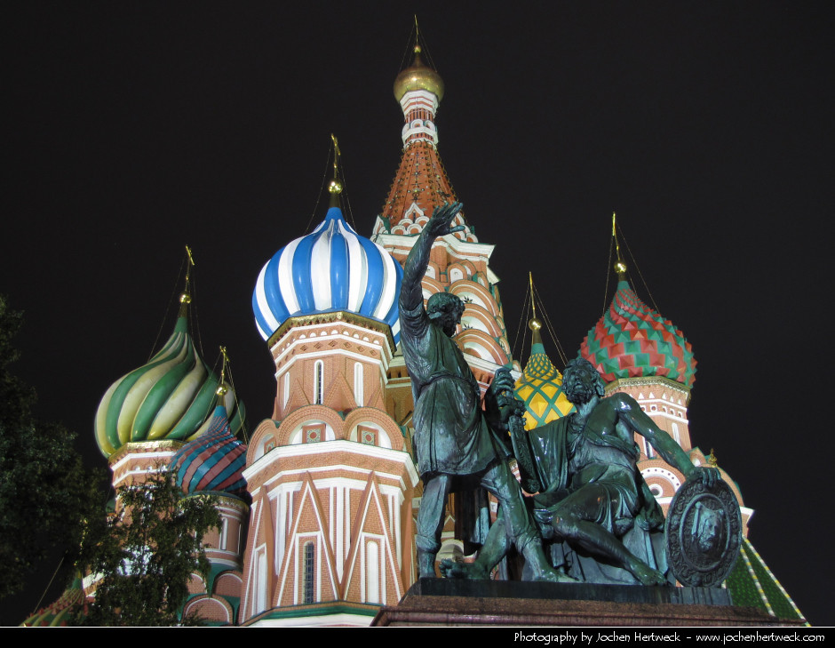 Saint Basil's Cathedral @ Night, Moscow, Russia