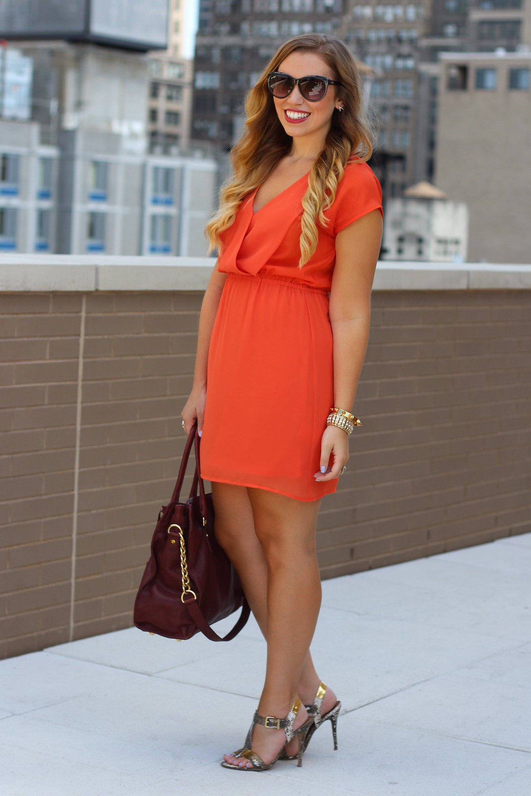 Orange Mini Dress | A Look Back at 10 Years of Blogging Living After Midnite Blogger Jackie Giardina