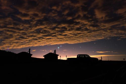 sky mountain silhouette clouds truck stars rockies evans colorado pickup 2013 floyka
