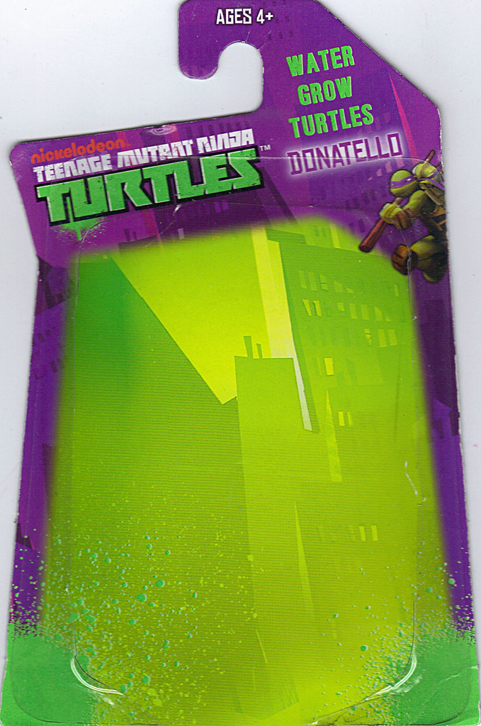 WICKED COOL TOYS :: Nickelodeon TEENAGE MUTANT NINJA TURTLES; 'WATER GROW TURTLES' - DONATELLO iii // ..card backer  (( 2013 )) by tOkKa
