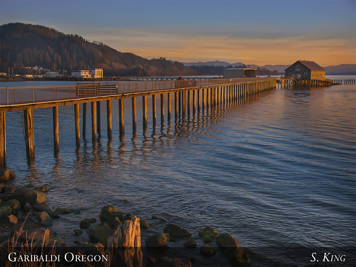 sunset oregon pier dock garibaldi cannery sking5000