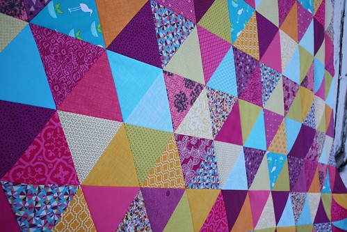 Mermaid Triangle Quilt Top | by Everyday Fray