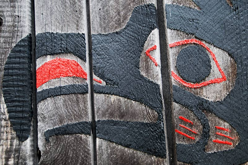 Carving at Du Quah Gallery, Ucluelet, Vancouver Island, British Columbia