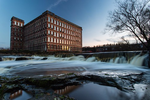 longexposure sunset mill water night scotland waterfall europe places falls clear anchor paisley renfrewshire hamillfalls