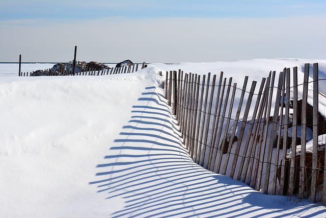 Snow Path to the Beach