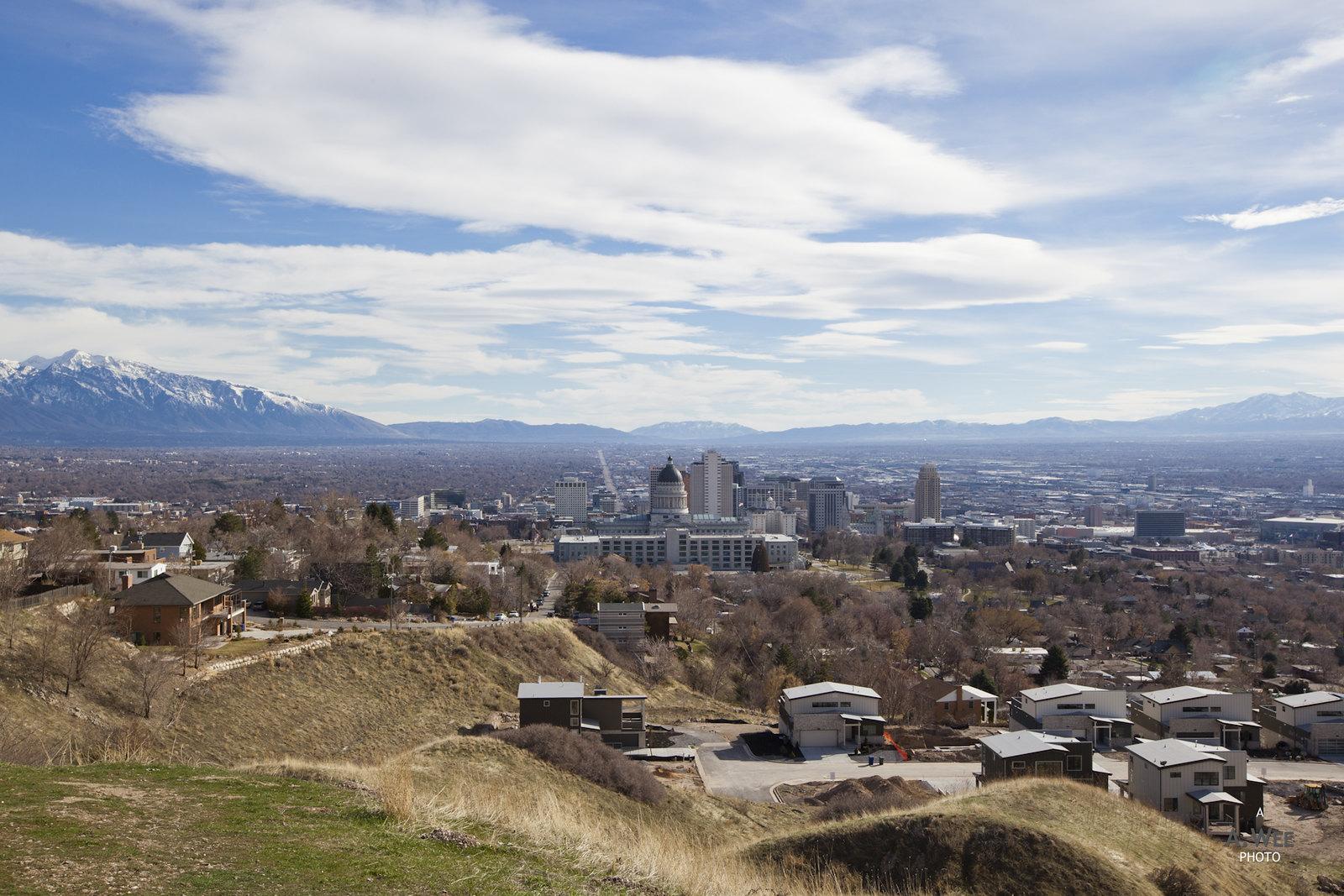 Panoramic view of Salt Lake City