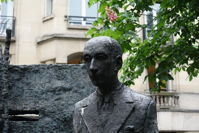 Monument to François Mauriac @ Place Alphonse Deville @ Paris